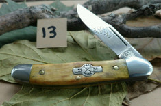 Schatt and Morgan Cutlery  - #41 Small Pocket Hunter (Copperhead) - Golden Spalted Maple Wood - (13)