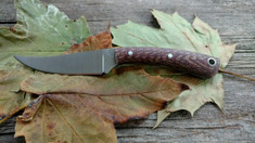 LT Wright  Handcrafted Knives -Large Swoop -NICE Herringbone  Micarta - NEW