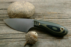 L.T. Wright Handcrafted Knives -  JX3 -  OD Green/Black G10  w/Black Liners