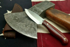 LT Wright  Handcrafted Knives - Patriot - Double Red Micarta - Polished  - Scandi Grind - AEB-L Stainless Steel - NEW