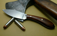 L.T. Wright Handcrafted Knives - Small Northern Hunter - NICE Desert Ironwood Handles -Flat Grind - AEB-L Stainless Steel