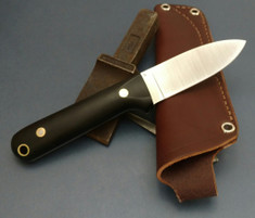 LT Wright Handcrafted Knives - THE NEXT GEN - Black Micarta - Matte Finish - Flat Grind