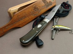 Great Eastern Cutlery -  Bird & Trout Hunter  - OD Green Linen Micarta