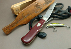 Great Eastern Cutlery -  Bird & Trout Hunter  - Red Linen Micarta