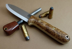 Rogue Bear Knives - Kephart - Rare Chittum Burl Wood w/Snakeskin Liners - NEW