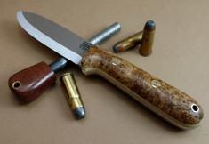 Rogue Bear Knives - Kephart - Rare Chittum Burl Wood w/Snakeskin Liners - NEW