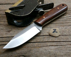 LT Wright Handcrafted Knives  -  Frontier Trapper  - Desert Iron Wood Handles (2)- AEB-L Stainless Steel - NEW