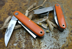 Great Eastern Cutlery - Farm and Field -  #35 Calf/Pen Work Knife - Orange Delrin