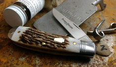 Schatt and Morgan Cutlery  - Keystone - Sway Belly Trapper - American Elk Stag -2