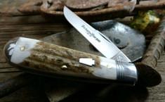 Schatt and Morgan Cutlery  - Keystone - Sway Belly Trapper - American Elk Stag -16