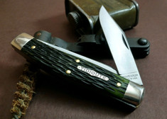 Great Eastern Cutlery - Tidiuote - Bull Moose - Moss Green Jig Bone