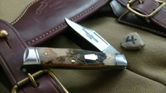 Schatt & Morgan Cutlery - #40 Gunstock - NEW Lightning Wood - 4 - NEW JSR EXCLUSIVE