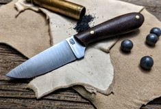 LT Wright Handcrafted Knives -  Frontier First - Burlap Micarta - Flat Grind -  01 Tool Steel