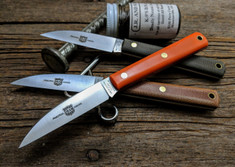 Great Eastern Cutlery - #H20 - Caping Hunter - Natural Canvas Micarta Handles