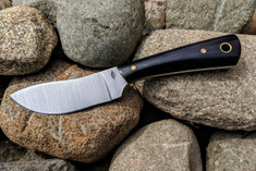 Battle  Horse - Crooked Creek   - Double Black Micarta - Polished
