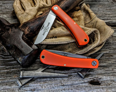 GEC - Farm and Field -  Bullnose Work Knife - Orange Delrin