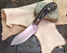 LT Wright Handcrafted Knives  - Lil MUK - Canvas Python Micarta -Matte Finish - D2 Tool Steel (New Arrivals)