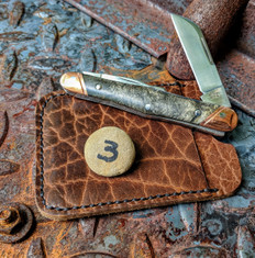 Tuna Valley Cutlery Co.  - Carpenters Whittler - Special Run of Only 5 Knives - Buckeye Burl Wood with Copper Bolsters - 3