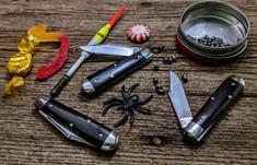 Tidioute -  Lick Creek -  Boys Knife - Single Clip Blade - Gabon Ebony Wood