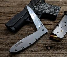 Kershaw - Leek - 410 Stainless Steel Handles - 14C28N/D2  Composite Steel Blade