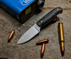 LT Wright  Handcrafted Knives - Patriot -  Black Micarta  - Matte Finish - Flat Grind - 3V Steel - NEW