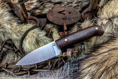 LT Wright  Handcrafted Knives - Patriot -  Burlap Micarta  - Matte Finish - Flat Grind - 3V Steel - NEW