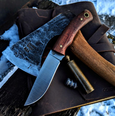 LT Wright  Handcrafted Knives - Revere -  Koa Wood Handles w/Black Liners - 1  - Flat Grind - A2 Steel - NEW