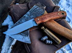 LT Wright  Handcrafted Knives - Revere -  Koa Wood Handles w/Black Liners - 2  - Flat Grind - A2 Steel - NEW