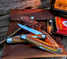 Great Eastern Cutlery -Tidioute - Possum Skinner - Natural Canvas Micarta