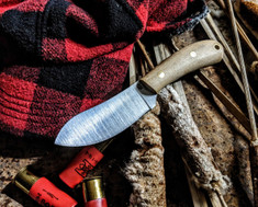 LT Wright Handcrafted Knives  - Camp Muk -  Snakeskin  Micarta - Matte  Finish - A2 Tool Steel