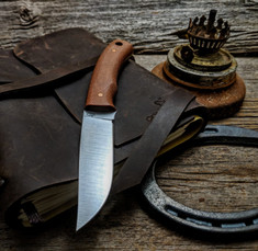 LT Wright  Handcrafted Knives - Revere -  Natural Micarta   - Flat Grind - A2 Steel - NEW