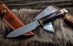 Hess Knifeworks - Muley - Cocobolo Wood - Aluminum  Pommel