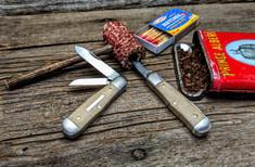 Great Eastern Cutlery - Tidioute -  Pemberton -Muslin Micarta Handles - Two Blade