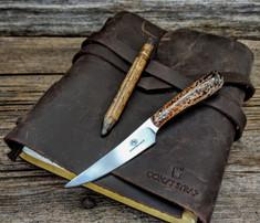 Arno Bernard Knives - Bushbaby Series - Porcupine - Kudu Bone Handles
