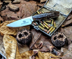 Arno Bernard Knives - Bushbaby Series - Squirrel - Kudu Bone Handles - 1A