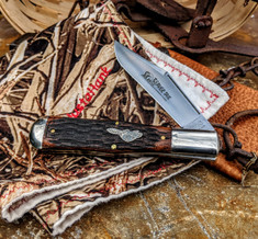Great Eastern Cutlery - Tidioute - Allegheny Pattern - Jigged Brazilian Cherry Wood - Beaver Tail - NEW