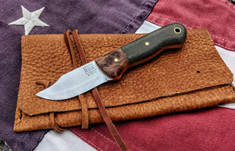Rogue Bear Knives - Mini Claw - Thuya /Green Canvas Micarta Two Tone w/Orange G10 Liners- NEW