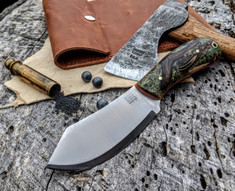 Rogue Bear Knives - Nessy - Forest Floor Plantstone w/Orange G10 Liners- NEW
