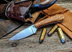 LTWK - Frontier Valley - Koa Wood w/White Liners  - Flat Grind -  01 Tool Steel