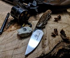 Arno Bernard Knives - Bushbaby Series - Squirrel - Kudu Bone Handles - 3B