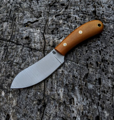 LT Wright Handcrafted Knives  - Camp Muk -  Maple Paper - Polished  Finish - 01 Tool Steel