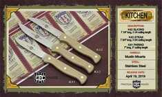 Great Eastern Cutlery - K43SS - Steak Knife - Muslin Micarta Handles - NEW