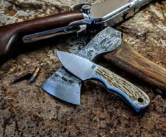 LT Wright  Handcrafted Knives - Buckeye -  American Elk w/Black Liners - 2 - Flat Grind - D2 Tool Steel - NEW