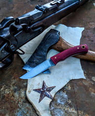 LT Wright  Handcrafted Knives - Revere -  Shadetree Ruby Micarta - Flat Grind - A2 Steel - NEW