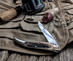Great Eastern Cutlery - Northfield - Toothpick - Sambar Stag Handles -9