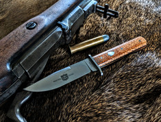 Great Eastern Cutlery - H10  Hunter - Small Bowie - Antiqued Cherry Wood Handles