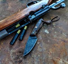 Smith & Sons Knife Company - Z-1 - Oiled Bocote Wood Handles - Blade Jimping