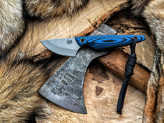 Smith & Sons Knife Company - Shrew - Blue /Black G10 Handles  - AEB-L SS Blade - NEW