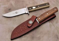 Great Eastern Cutlery - H30  Hunter Fixed Blade - Woodland Muslin Micarta Handles - NEW