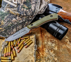 Smith & Sons Knife Company - AXIOM - OD Green G10 Handles  w/ Orange Liners - NEW